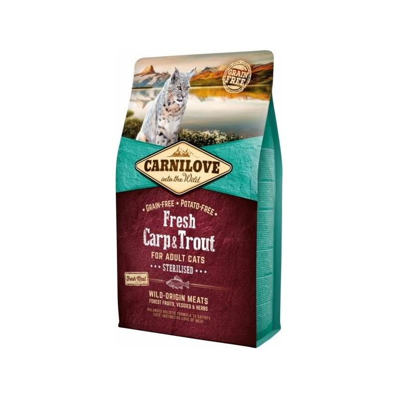 CARNILOVE - Croquettes pour chat stérilisé sans pomme de terre au poisson