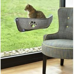 Grand Hamac de fenêtre pour chat Lounger - FLAMINGO