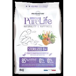 PURE LIFE - Croquettes Sans Céréales pour Chat Seniors stérilisé +8