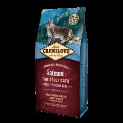 CARNILOVE - Croquettes pour chat à poils longs sans pomme au saumon