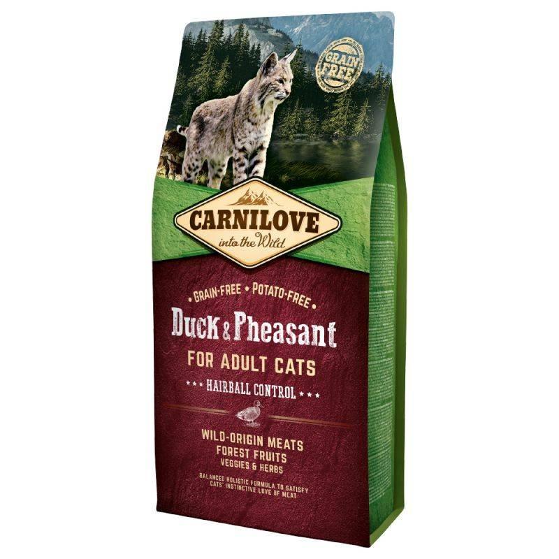 CARNILOVE - Croquettes pour chat sans céréale anti boules de poils