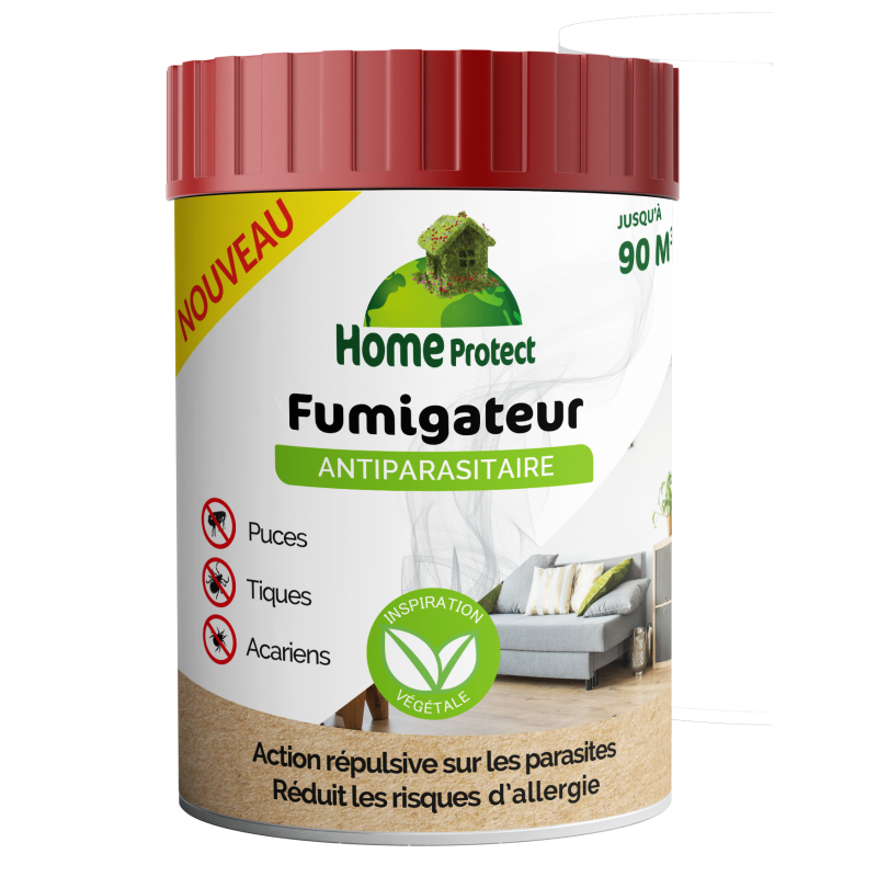 HOME PROTECT - Bougie Ultra Diffuseur antiparasitaire habitat 100% naturel