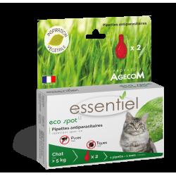 ESSENTIEL - Pipettes Eco Spot anti-puces naturelles pour grand chat