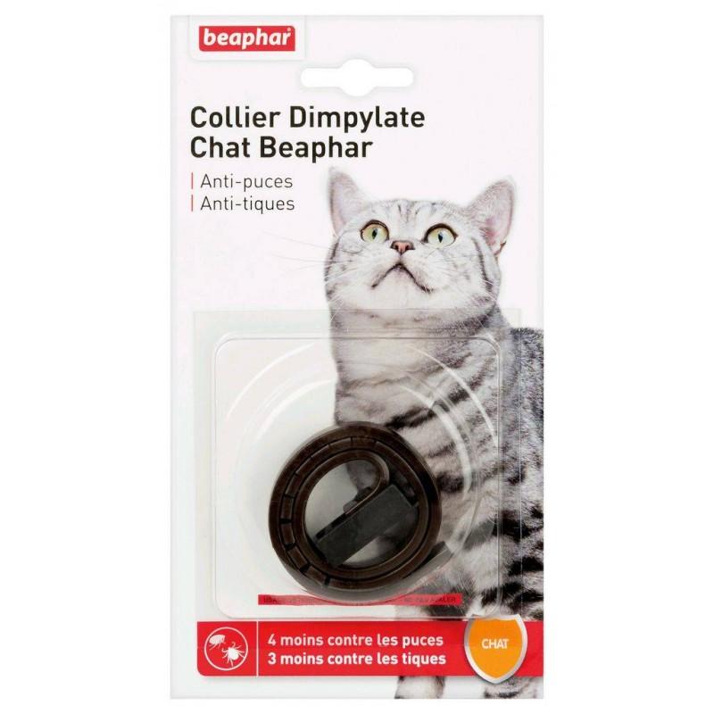 BEAPHAR - Collier Dimpylate pour chat anti-puces et tiques