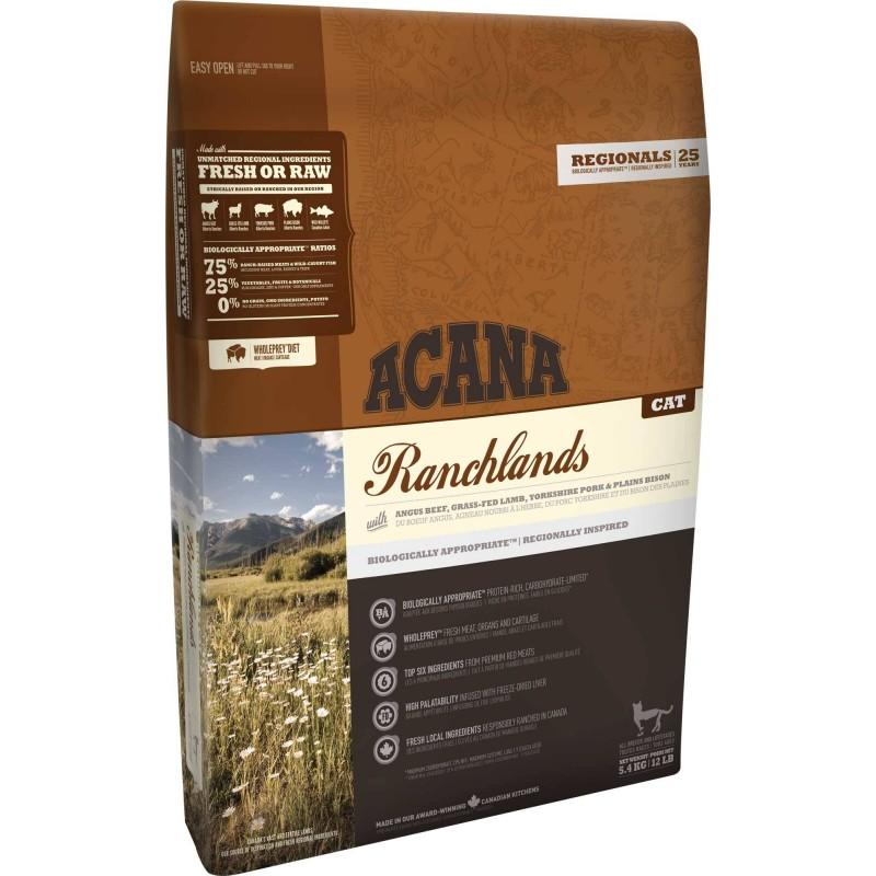 ACANA - Croquettes sans céréale Ranchlands pour Chat