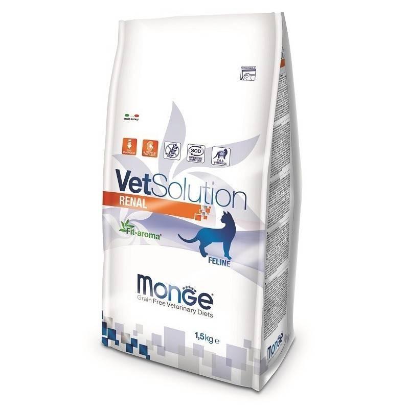 MONGE - Croquettes sans céréale VET Solution pour chat Renal