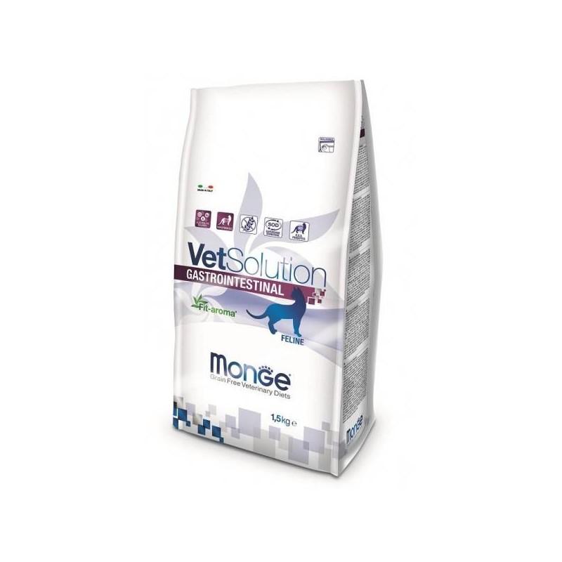 MONGE - Croquettes sans céréale VET Solution pour chat Gastrointestinal