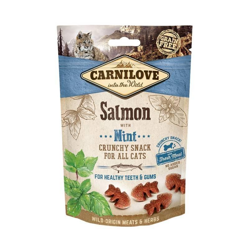 CARNILOVE - Friandises sans céréale pour chat Crunchy Saumon