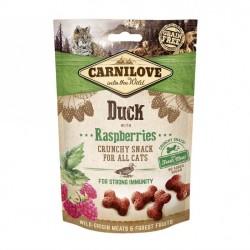 CARNILOVE - Friandises sans céréale pour chat Crunchy Canard