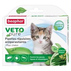 BEAPHAR - Vétonature Pipettes répulsives antiparasitaires chaton