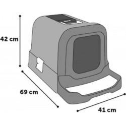 Maison de toilette pour chat à tirroir Rattan - FLAMINGO