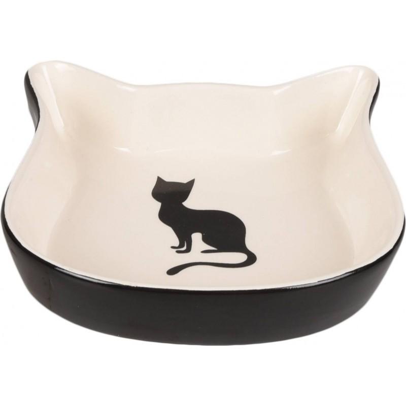 Gamelle en céramique pour chat tête noire - FLAMINGO