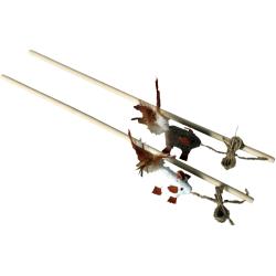 Canne à pêche pour chat bois 50 cm - CANACAT