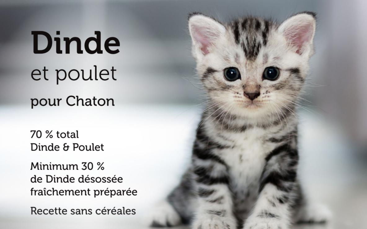 Croquettes chaton Dinde Poulet 1,5 kg - CAT APART